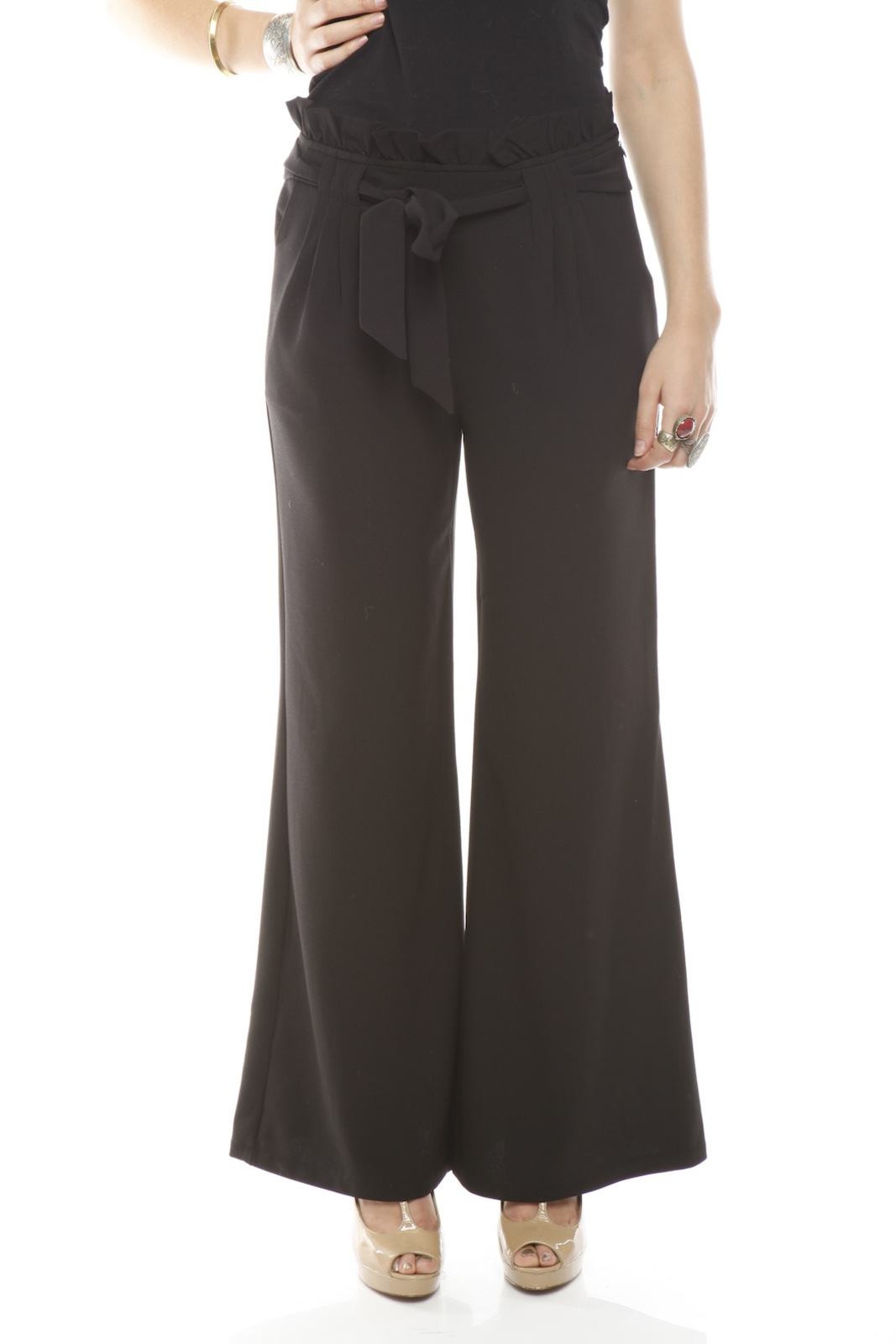 Darling High-Waist Trouser - Front Cropped Image