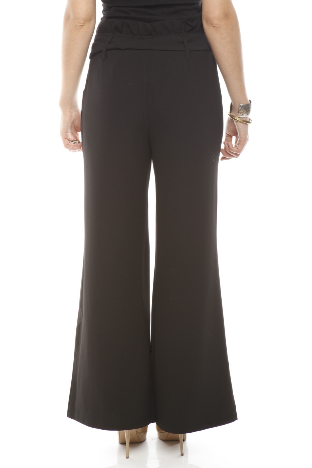 Darling High-Waist Trouser - Back Cropped Image