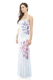 Miss Me Printed Maxi Tube Dress - Front full body
