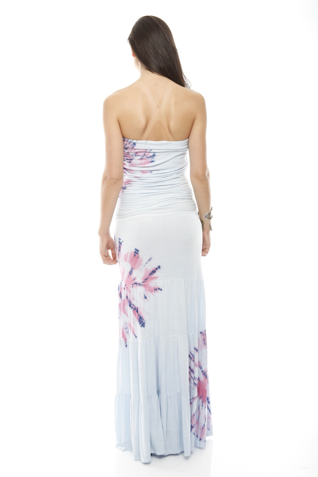 Miss Me Printed Maxi Tube Dress - Side Cropped Image