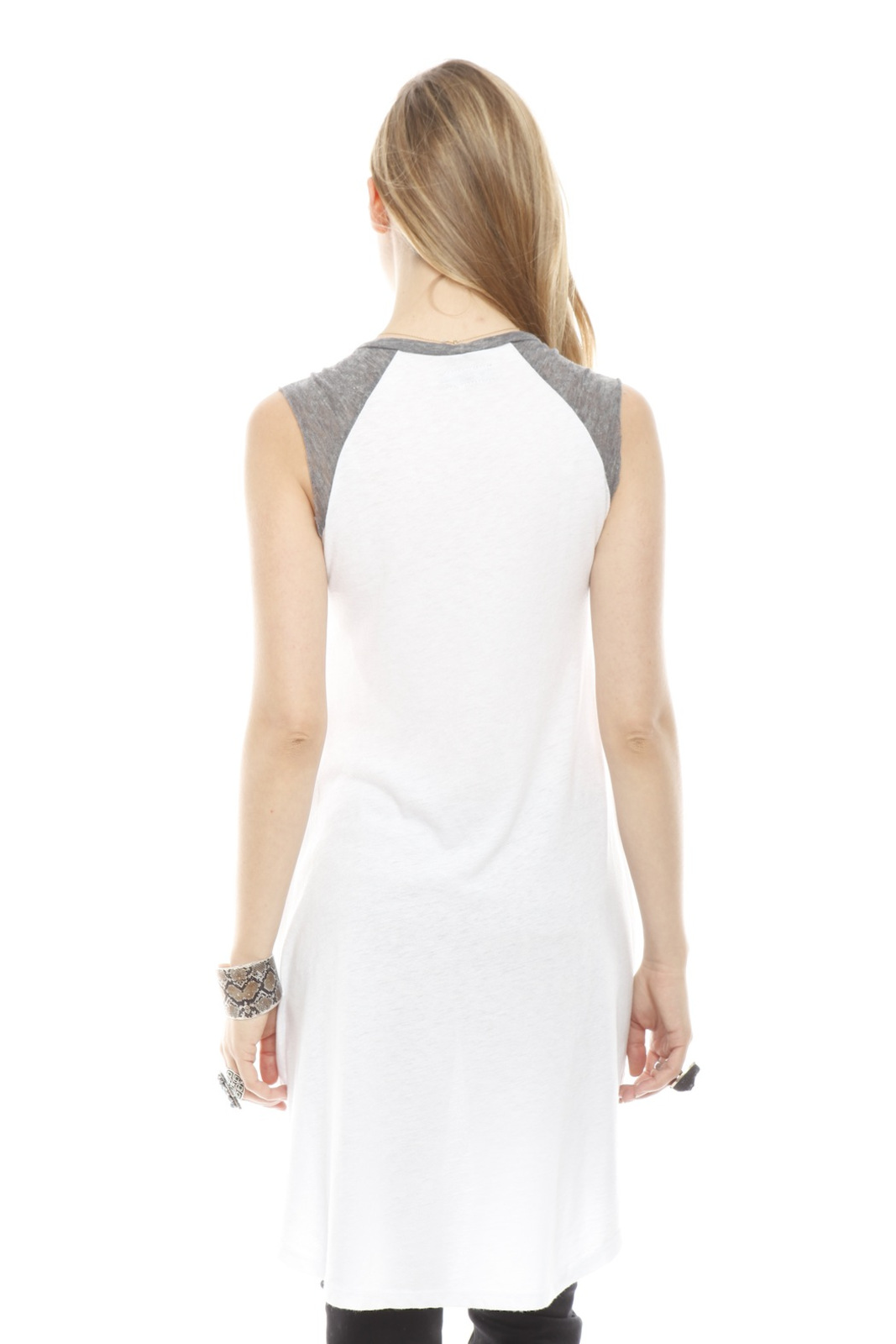 Lauren Moshi Wolf Face Drawing Tank - Back Cropped Image