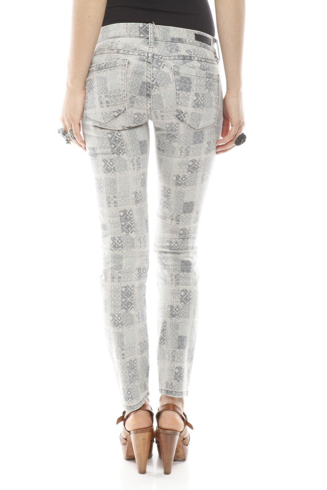 BlankNYC Ankle Moroccan Jeans - Back Cropped Image