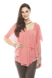 Shoptiques Product: Sheer Belted Blouse