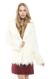 Shoptiques Product: White Faux Fur Jacket