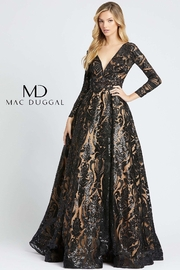 Mac Duggal V-Neck Gown - Product Mini Image