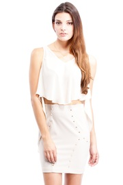 Shoptiques Product: White Flutter Tank