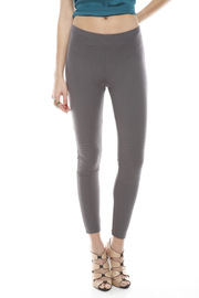 Shoptiques Product: Grey Motorcycle Leggings