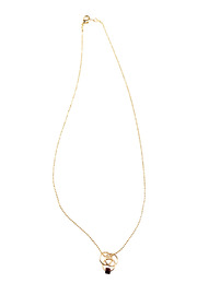 Shoptiques Product: Hoop and Glass Bead Necklace - Other