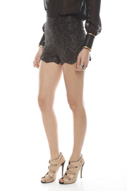 Patricia Del Castillo Lace High-Waist Shorts - Side cropped