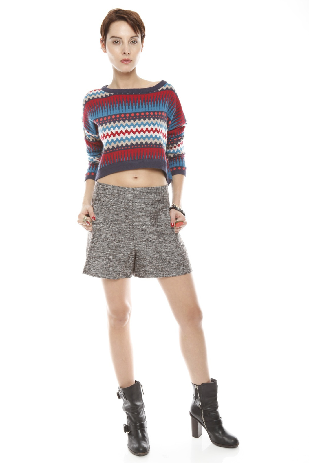 Cynthia Steffe High Waisted Shorts - Front Full Image