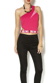 t.l.b.d. Hot Pink Crop Top - Product Mini Image