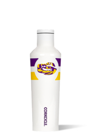 Corkcicle 16OZ CANTEEN-MODERNIST WHITE LSU GYM STRIPE - Product Mini Image