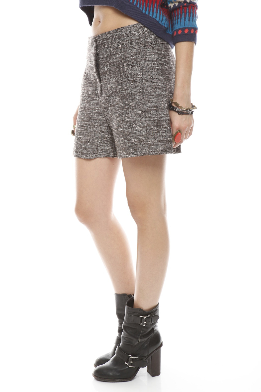 Cynthia Steffe High Waisted Shorts - Side Cropped Image