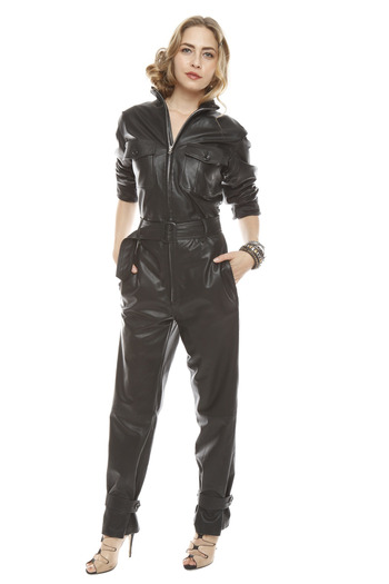 Patricia Del Castillo Leather Jumpsuit From Long Island