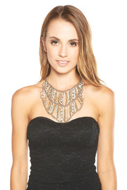 MAI Collection Silver Bib Necklace - Other