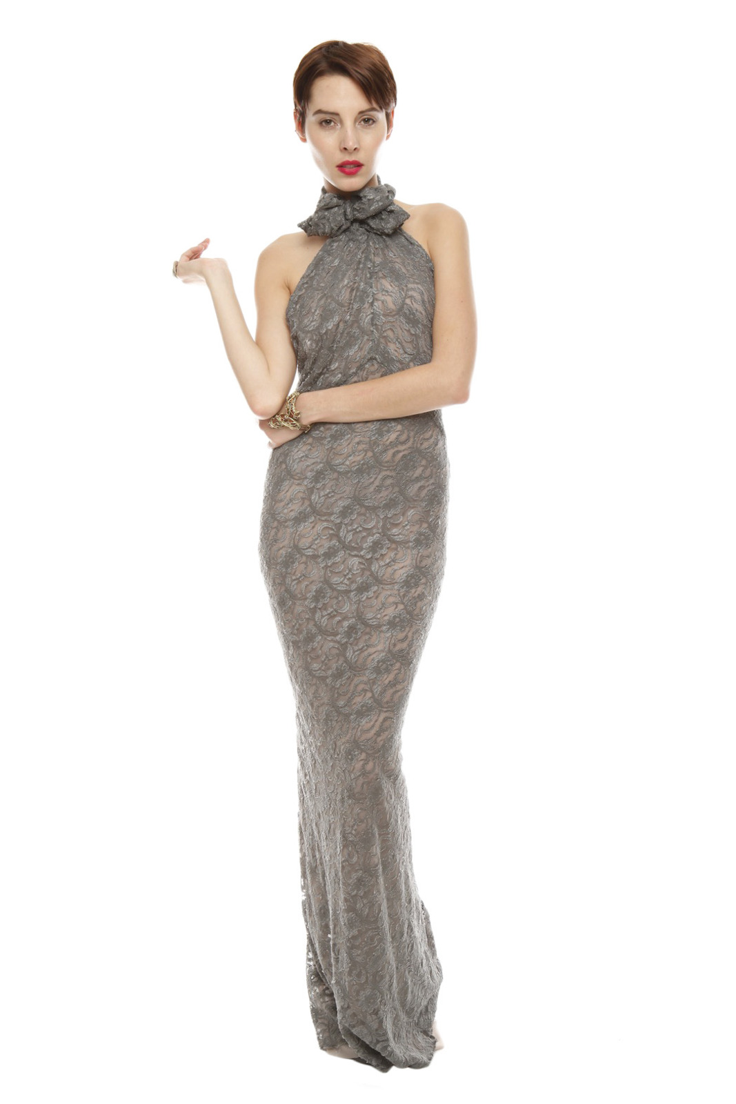 Patricia Del Castillo Long Backless Gown - Main Image