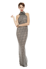 Patricia Del Castillo Long Backless Gown - Front cropped