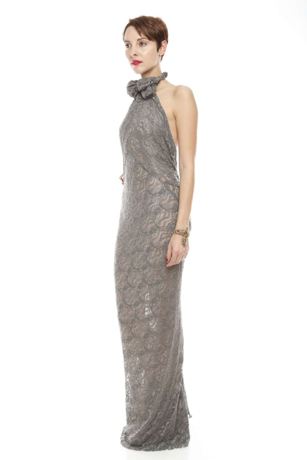 Patricia Del Castillo Long Backless Gown - Front Full Image