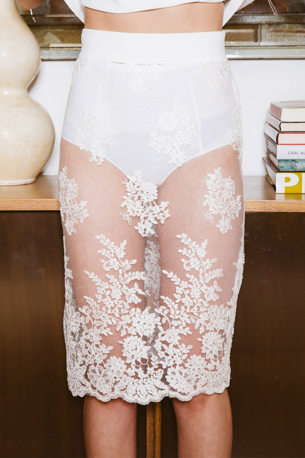 Pinkyotto Racey Lace Skirt - Front Full Image