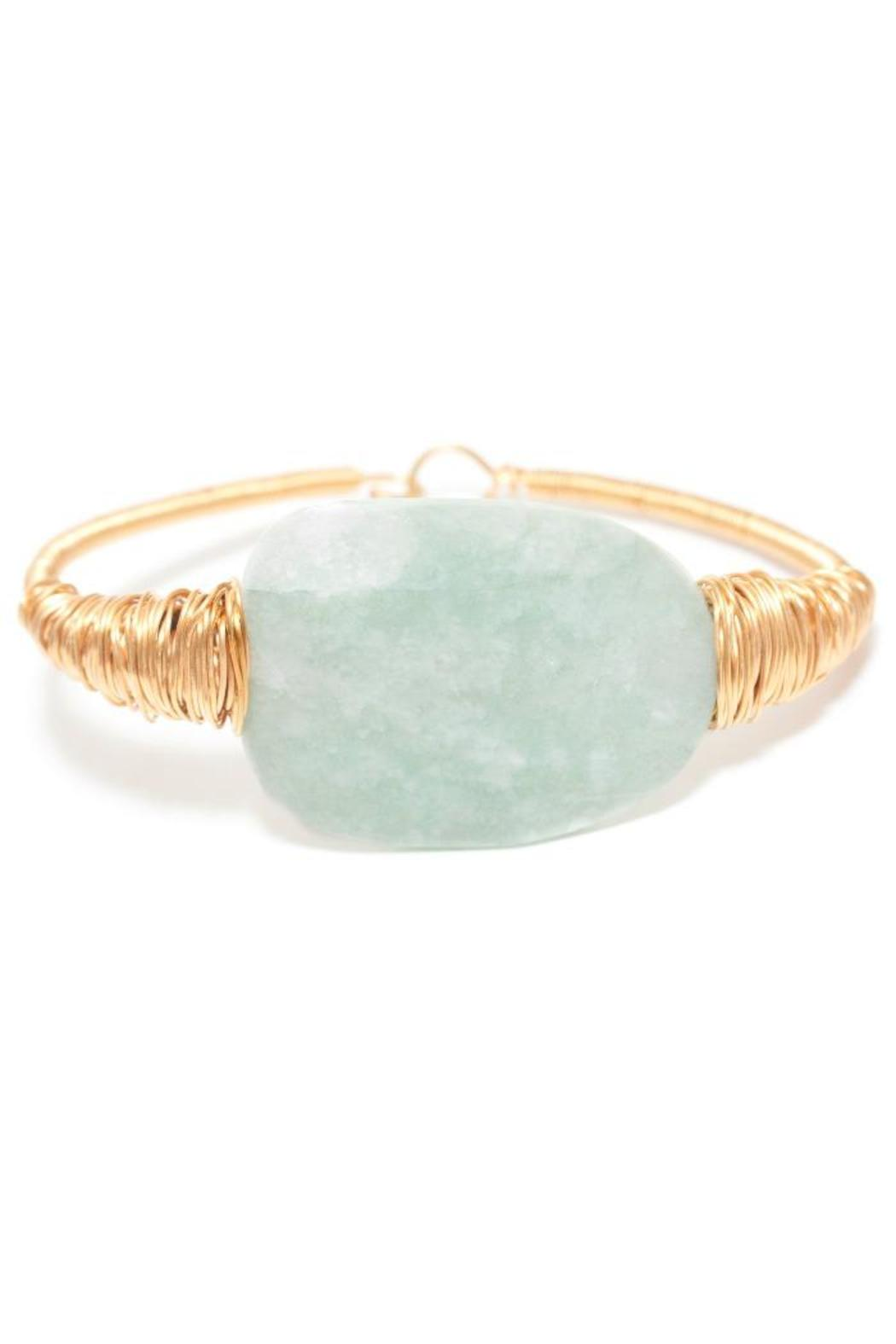 175941 Single Stone Bangle - Front Cropped Image