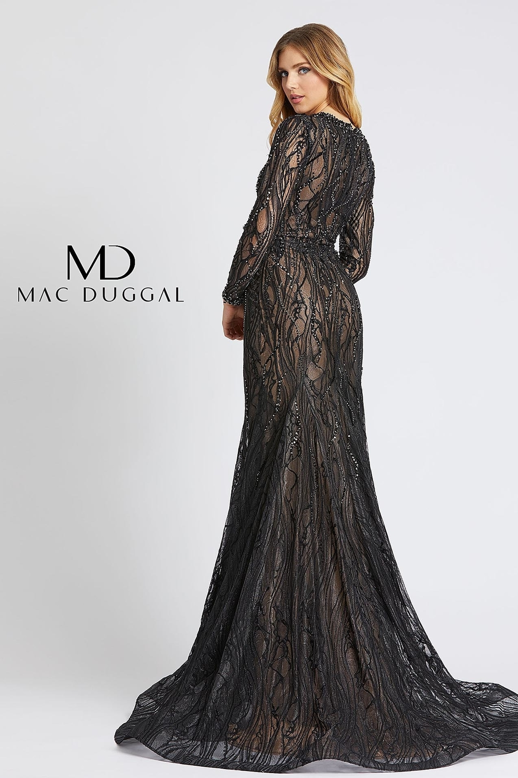 Mac Duggal Mermaid Gown - Front Full Image