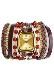Winky Designs Red Carnelian Wrap Watch - Front cropped