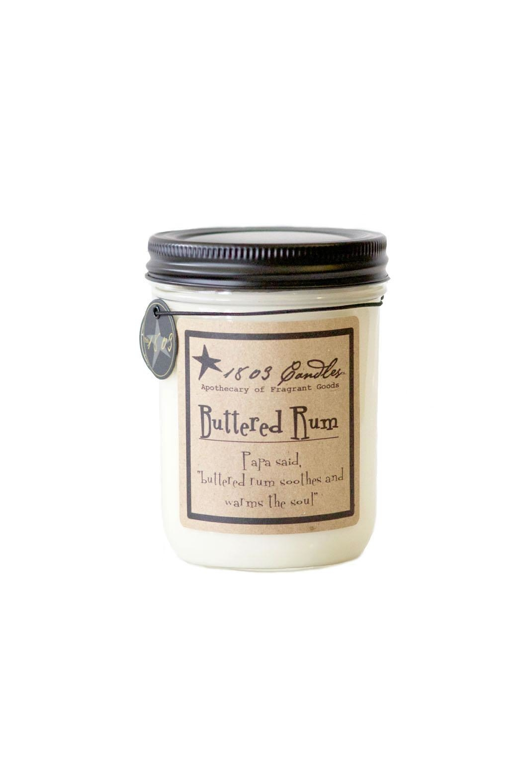 1803 Candles Buttered Rum Candle - Front Cropped Image
