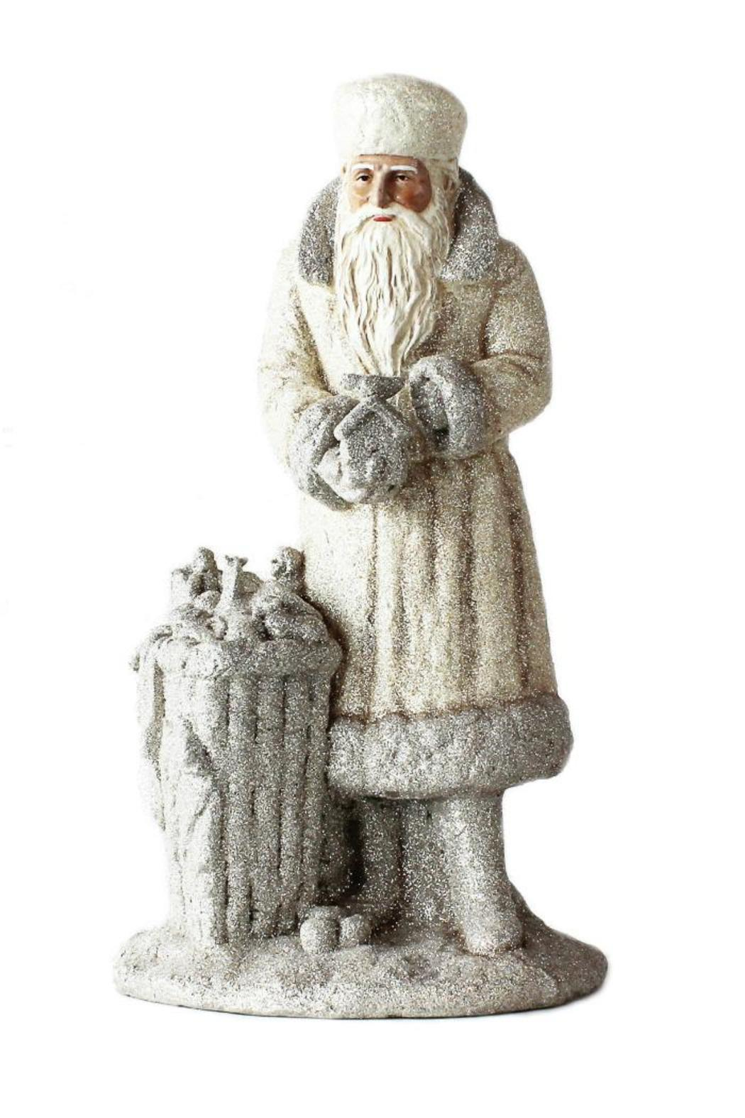 180 Degrees Glittered Santa Figure - Front Cropped Image