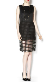 J.O.A. Cage Detail Dress - Front full body