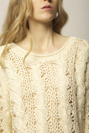 Cream Knit Sweater - Other
