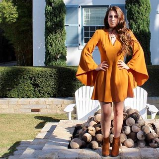 Shoptiques Product: Pumpkin Bell Sleeve Dress