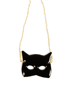 f_licie aussi Gold-Plated Cat Mask Necklace - Alternate List Image