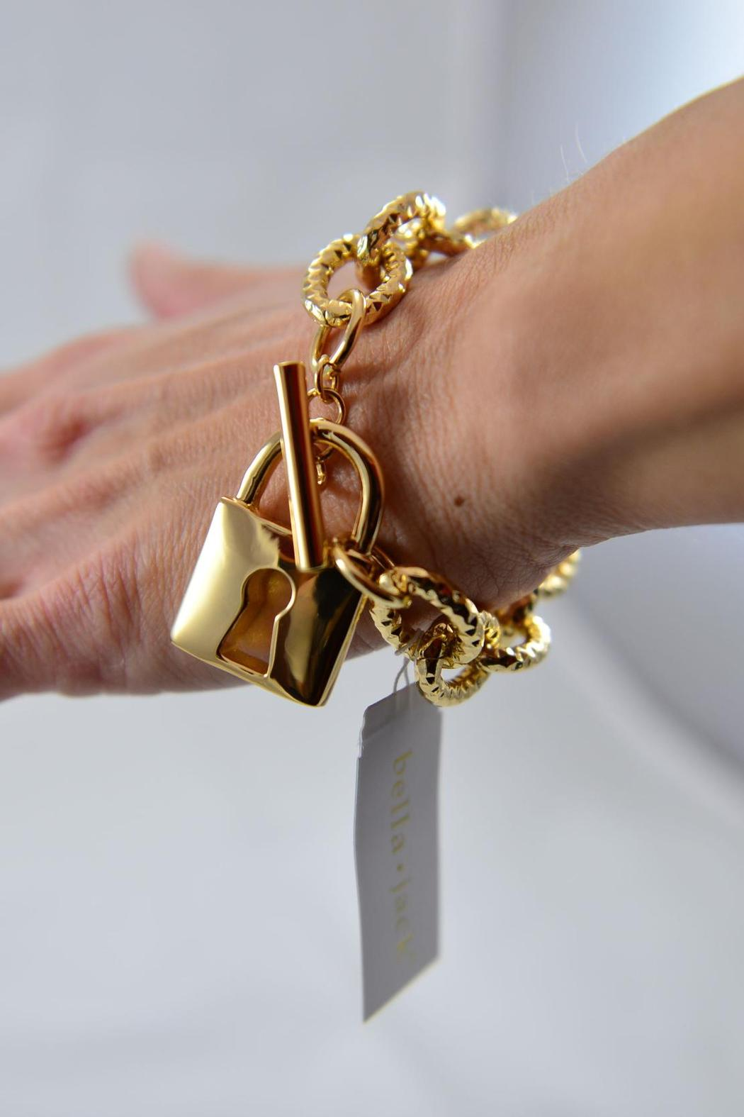 Bella Jack Gold-Tone Toggle Bracelet - Front Full Image