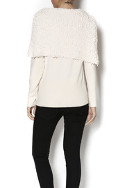 Talk of the Walk Textured Shimmer Sweater - Back cropped