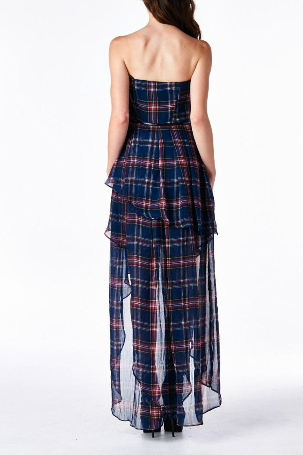 MHGS Plaid Sweetheart Dress - Back Cropped Image