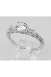 Margolin & Co 18K White Gold Engagement Ring Setting Mounting Diamond Bridal Jewelry 18K White Gold - Side cropped