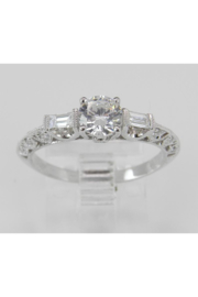 Margolin & Co 18K White Gold Engagement Ring Setting Mounting Diamond Bridal Jewelry 18K White Gold - Front cropped