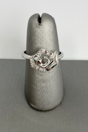 Damiani 18kt White Gold Diamond Ring - Front cropped