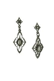 1928 Jewelry Stone Drop Earrings - Product Mini Image