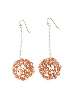 Shoptiques Product: Inside Out Mesh Earrings