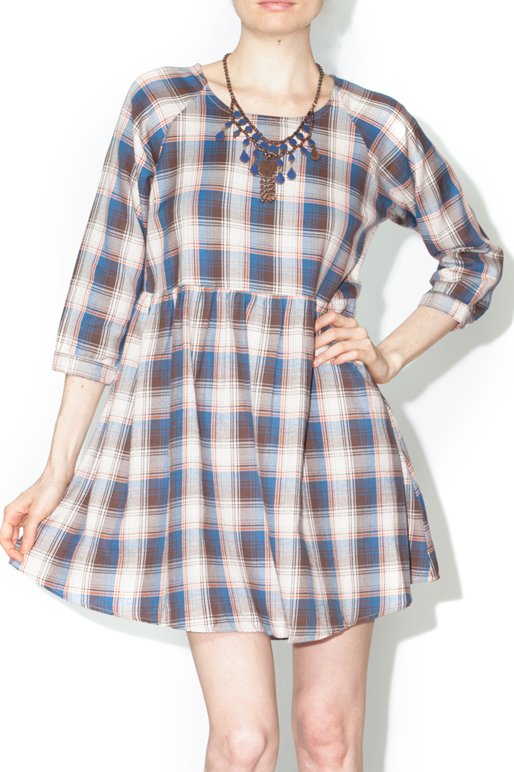 21dbc4032e En Creme Plaid Babydoll Dress from Florida by Olde Fields Clothing ...