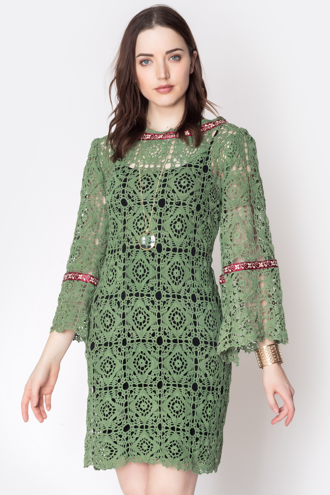 Geminola Green Kelly Dress - Front Cropped Image