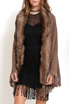 Shoptiques Product: Fur Cape Sweater