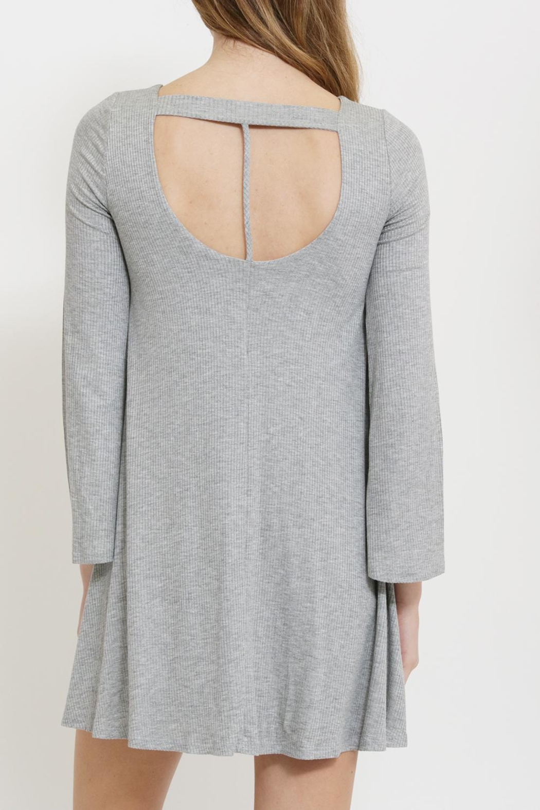 1 Funky Gray Swing Dress - Front Cropped Image