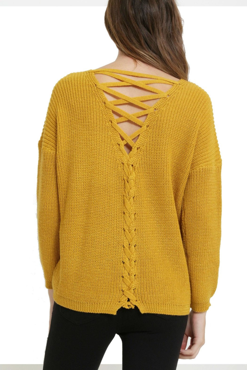 1 Funky Laceup Back Sweater - Main Image