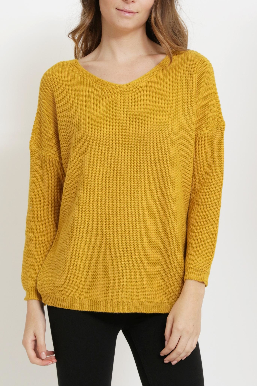 1 Funky Laceup Back Sweater - Front Full Image