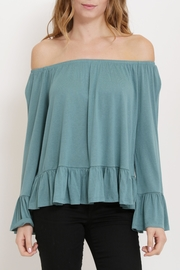 1 Funky Off Shoulder Ruffle Top - Product Mini Image