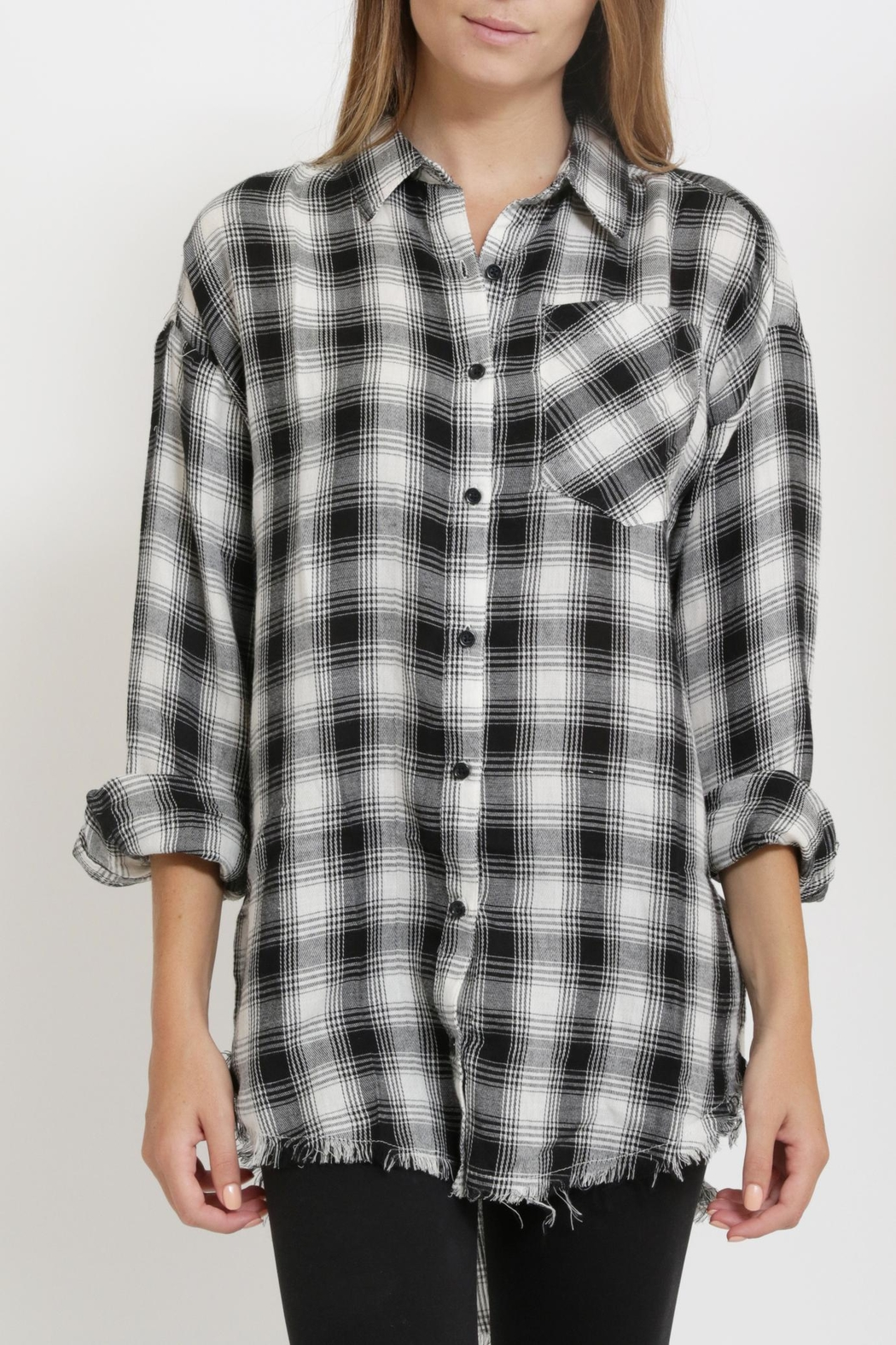 1 Funky Plaid Casual  Shirt - Front Cropped Image