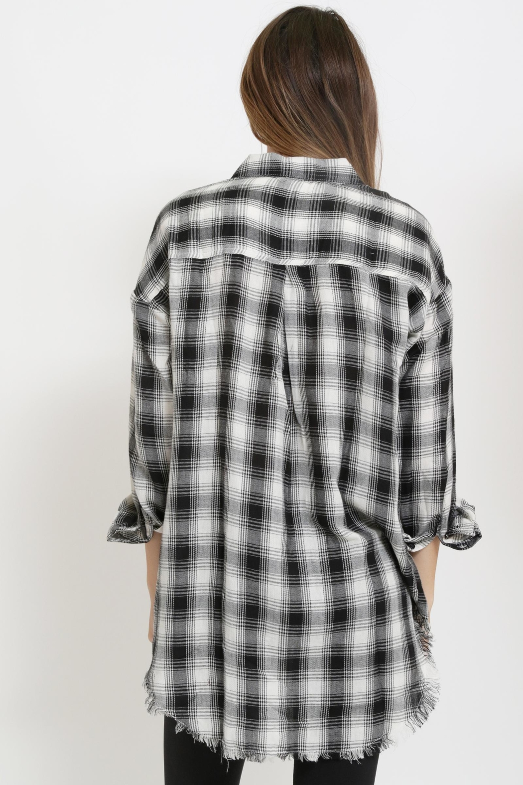 1 Funky Plaid Casual  Shirt - Front Full Image