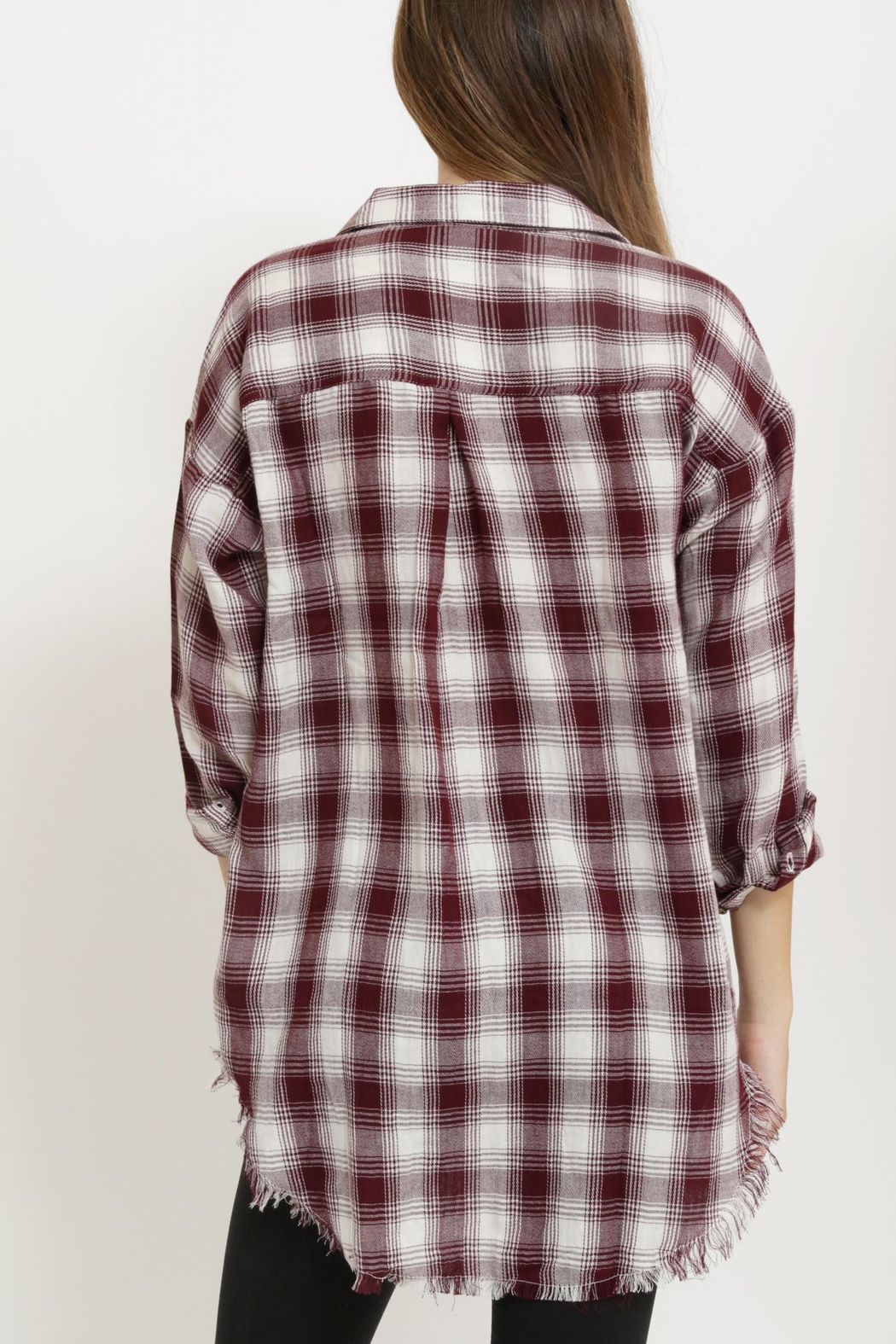 1 Funky Plaid Casual  Shirt - Back Cropped Image